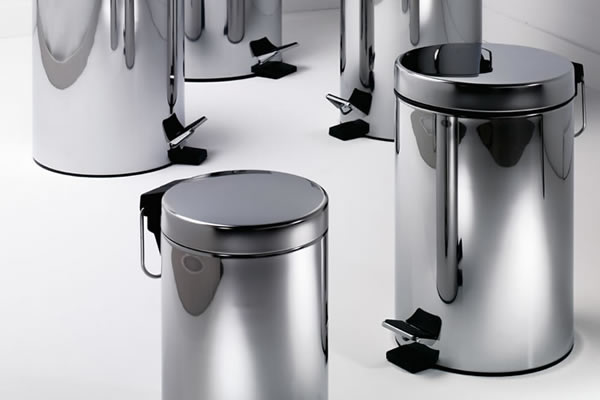 poubelles chrome